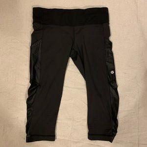 Lulemon Womens Capri Leggings Black Side Pockets